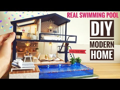 diy-miniature-modern-party-home-(with-real-swimming-pool)