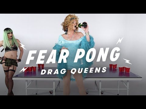 Drag Queens Play Fear Pong (Jade Dynasty vs. Mark 'Mom' Finley)