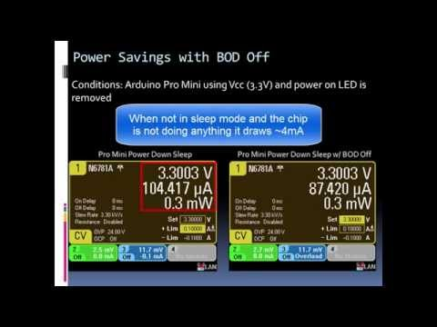 Reducing Arduino's Power Consumption Part 4 (Turning Off the BOD)
