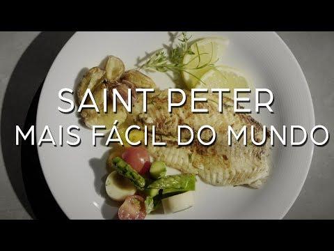 Saint Peter grelhado com Drink Ginger Lemon