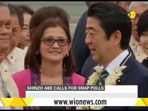 Japanese PM Shinzo Abe decides to dissolve lower house