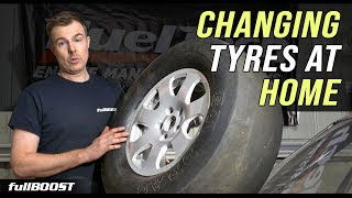 BACKYARD MECHANICS | How to change a tyre / tire at home | fullBOOST