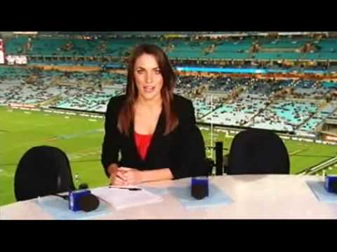 Roz Kelly behind the scenes at State of Origin