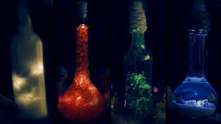 DIY: Elements in a Bottle | Halloween Room Decor | Earth | Air |  Water | Fire