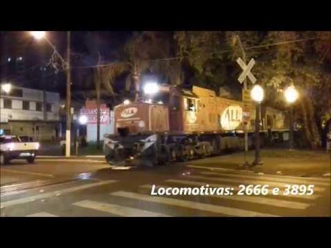 GE U20C-1 2666 e U20C 3895 saindo de Cornélio Procópio/PR sentido à Ourinhos/SP. 17/01/20.