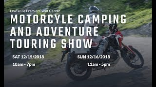 Meetup at the Motorcycle Camping & Adventure Touring Show