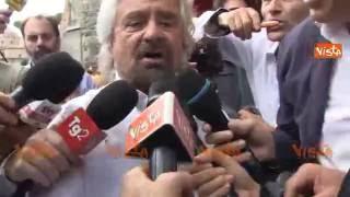 Grillo va via da Roma dopo il vertice del Movimento 5 Stelle