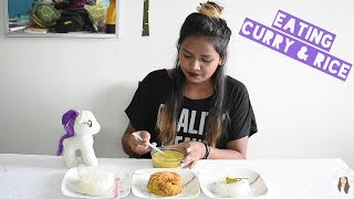 Eating CURRY and RICE || Indian Food Mukbang