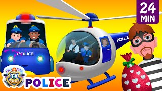 vuclip ChuChu TV Police Thief Chase - Police Car, Helicopter, Bike | Save Surprise Eggs Kids Toys & Gifts
