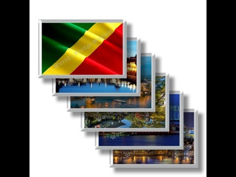 CG - Travel in REPUBLIC OF THE CONGO - rectangular magnets and souvenirs