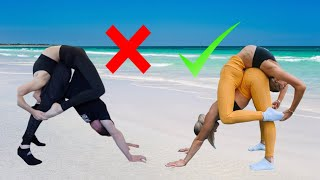 EXTREME YOGA CHALLENGE ~ TWINS VS OLYMPIC GYMNAST & CONTORTIONIST