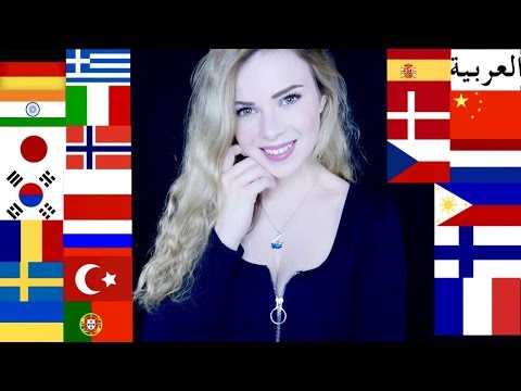 ASMR in 25 DIFFERENT LANGUAGES (Russian, Chinese, German, Spanish, Korean...)