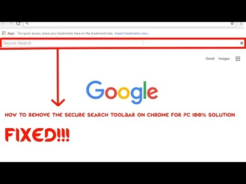 how to turn off secure search