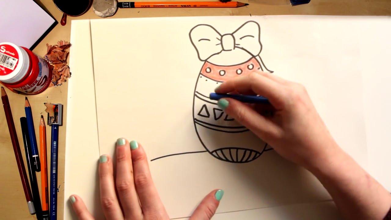Como dibujar un Huevo de Pascua  dibujos para nios  YouTube