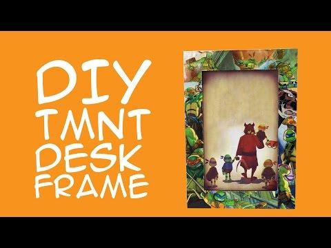 Teenage Mutant Ninja Turtles DIY Frame for TMNT fans: Comic Book Craft - A GeekyMcFangirl Tutorial