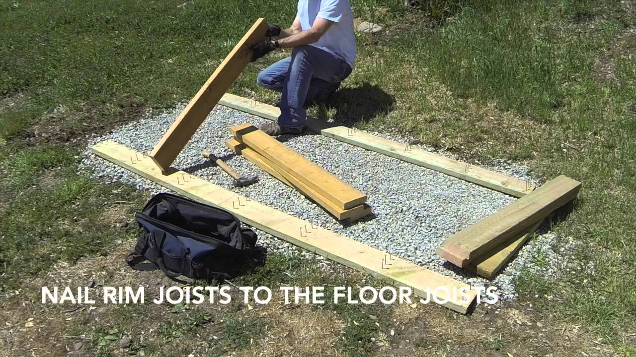 How To Build A Lean To Shed Part 1 Gravel Foundation