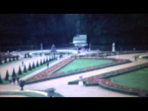 1963: Fancy Roman Italian wealthy manicured garden grounds.  ROME, ITALY