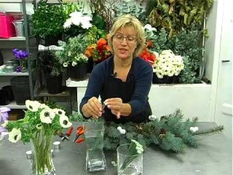 Tuto centre de table no l avec orchid es vanda youtube - Bouquet centre de table ...