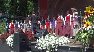 """00002 Folkloras diena """"Novadu sasaukšanās"""" uz Vērmanes dārza lielās skatuves 7.07.2018"""
