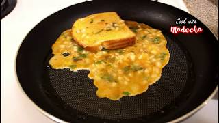 HOW TO MAKE CHEESE EGG SANDWICH - CHEESY BREAD OMELETTE RECIPE BY( COOK WITH MADEEHA)