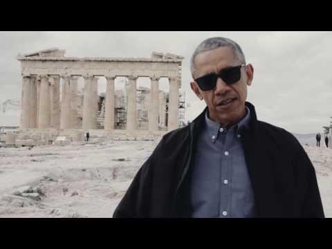 US President Barack Obama visits the Acropolis of Athens (Greece)