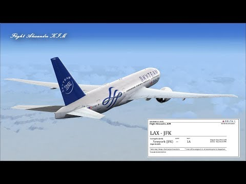 [HD] KLAX - KJFK Delta 040 Boeing B777-200LR (Two Steps from Hell - Unleashed)  