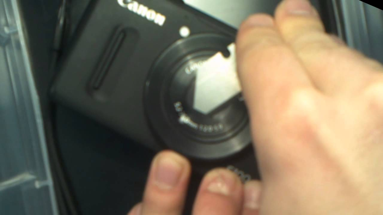 Fixing Dented Lens Cover Housing On A Canon PowerShot S100