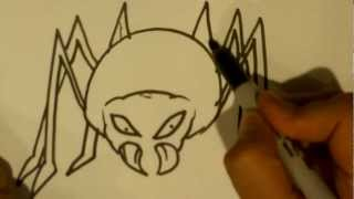 How to Draw a Spider - Halloween Drawings