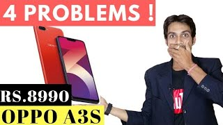 Oppo A3s Rs.8,990 with 4 PROBLEMS ! Budget Notch Display Smartphone