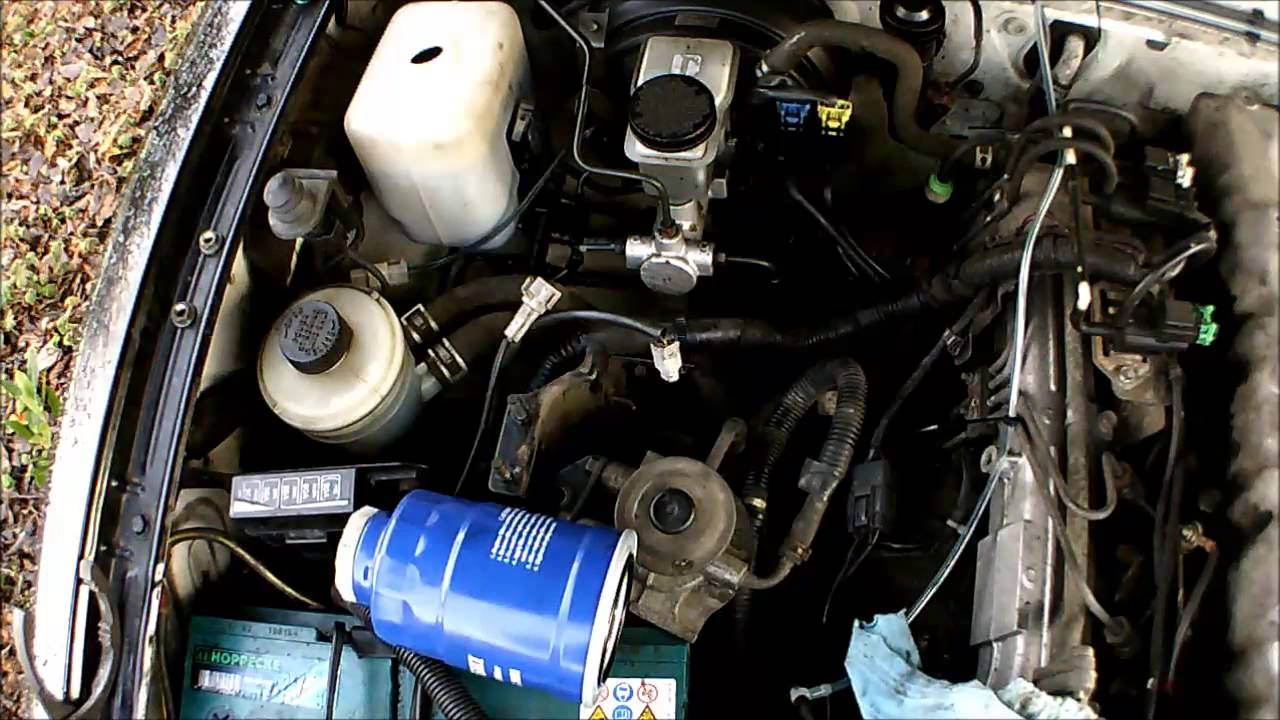 Ford Ranger Mazda B2500 25td Servicing Guide Part 2 Air And Fuel Diesel Filter Location Replacemen Youtube