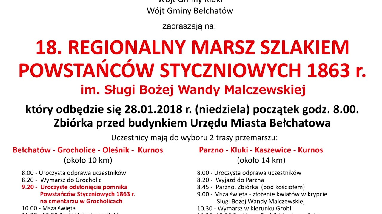 TKB – Marsz Szlakiem Powstańców – 19.01.2018