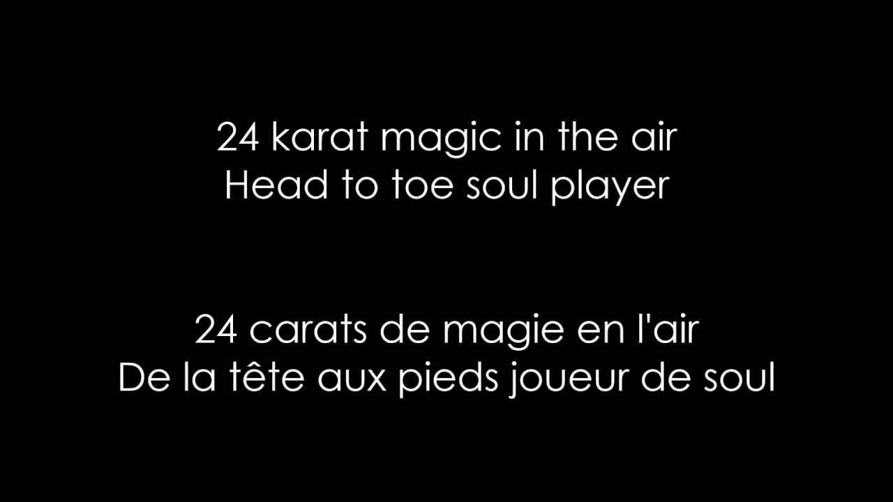 Bruno Mars 24k Magic Lyrics Traduction Fr Youtube