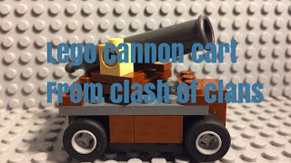 Lego cannon cart from Clash of Clans