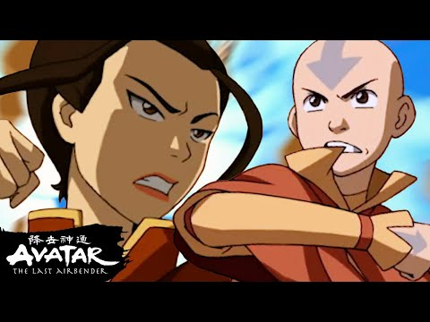 "Aang Fights Azula in ""The Drill"" to Save Ba Sing Se! 