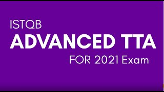 ISTQB Advanced Technical test Analyst training for 2021 exam  : ISTQB
