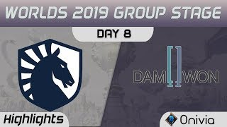 TL vs DWG Highlights Worlds 2019 Main Event Group Stage Team Liquid vs Damwon Gaming by Onivia