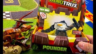 New DinoTrux Toys Hunt - Battle Armor Ty Rux, Pounder, and Power Trux - Dinosaur Toys for kids