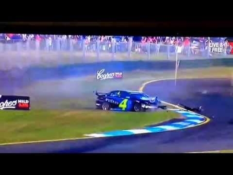 V8supercars lee holdsworth crashes at 266kph into tire barrier