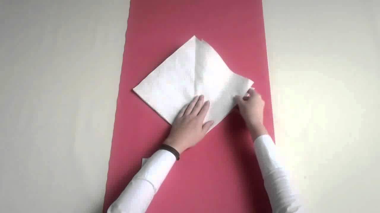 Doblar servilleta estilo Flor - SanchezFerris - YouTube