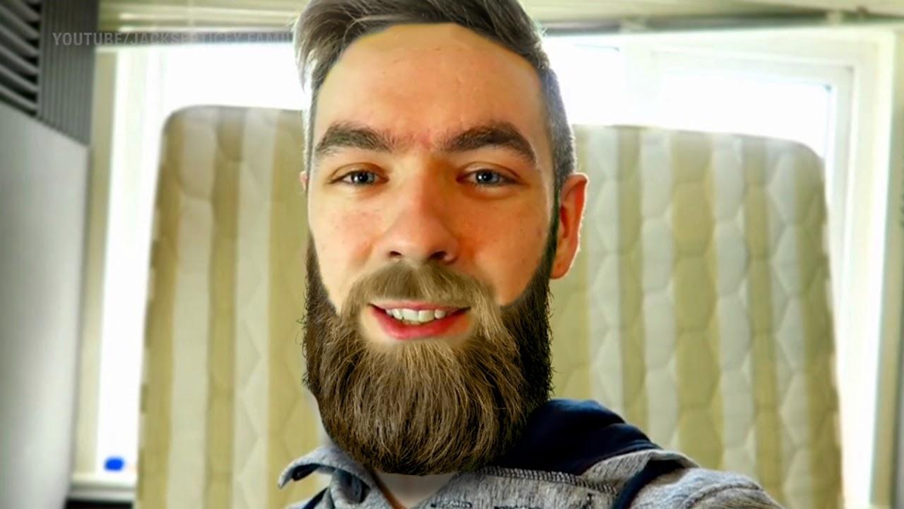 Photoshopped EPIC BEARD OF JACKSEPTICEYE