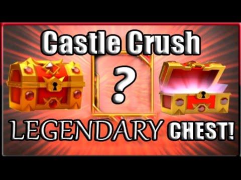 Castle Crush - LEGENDARY CHEST OPENING!  NEW LEGENDARY CARD PULL!