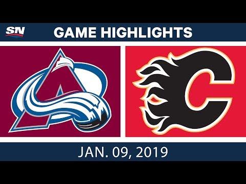 NHL Highlights | Avalanche vs. Flames - Jan. 9, 2019