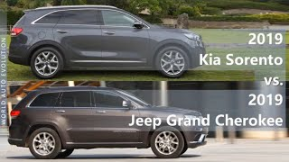 2019 Kia Sorento vs 2019 Jeep Grand Cherokee (technical comparison)