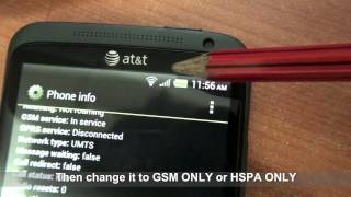 How to change network mode on HTC One X at model