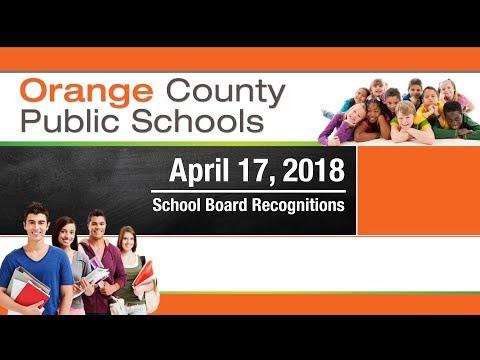 OCPS | 2018-04-17 School Board Recognition
