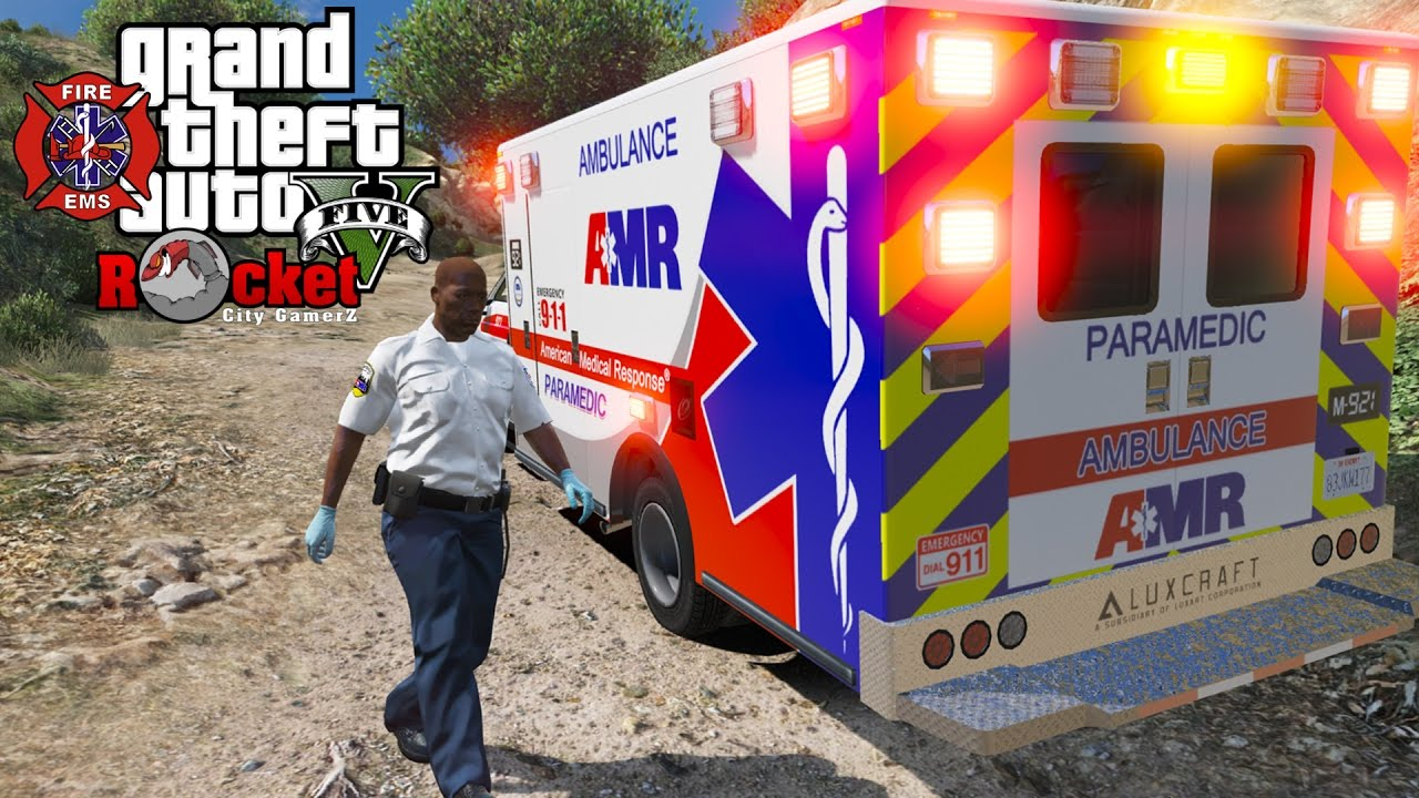 Rick Chocolate Goes to Work for AMR! | GTA 5 LSPDFR EMS/FIRE (Agency  Callouts) Recorded LIVE!
