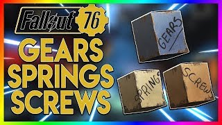 Fallout 76 - Best Place To Find Spring, Gear And Screw