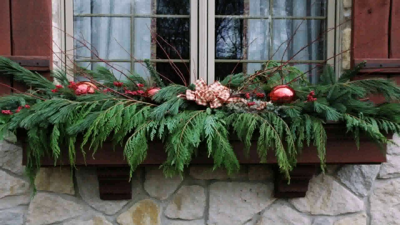 Christmas Decorating Ideas For Window Boxes Youtube