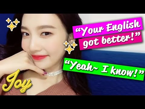 Red Velvet JOY Speaking English On Her First Ever Instagram Live | 레드벨벳 조이 영어