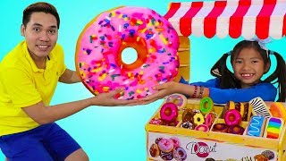 Wendy Pretend Play with Donut Bakery Shop Pretend Food Toys